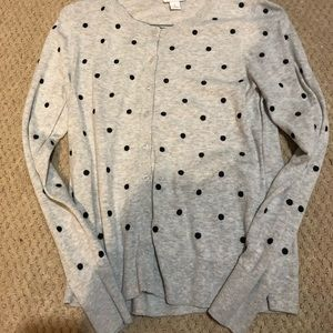 polka dot cardigan/sweater